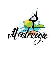 logo montenegro woman sculpture of dancer vector image