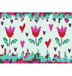 love spring tulip pixel vector image