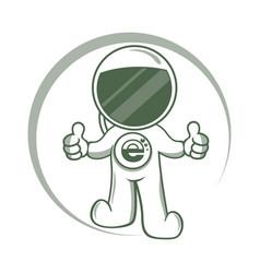 Modern astronaut logo vector
