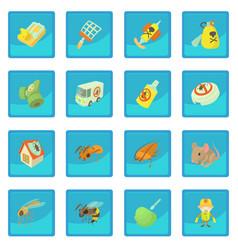Pest control terminate icon blue app vector