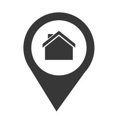 Pin location house vector