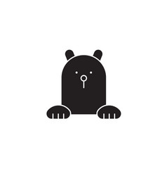 polar bear black concept icon polar bear vector image