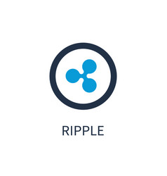 ripple icon of cryptocurrency vector image