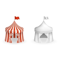 Round circus tent Festival with entrance vector