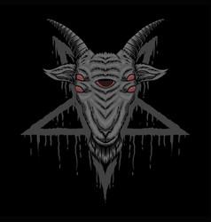 satanic goat vector image