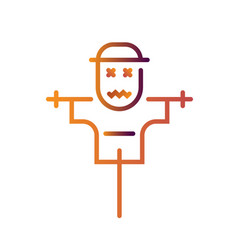Scarecrow linegradient vector