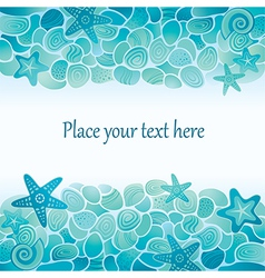 Sea floor card vector