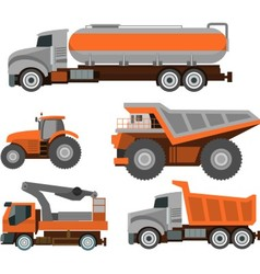 Set of Trucks vector image