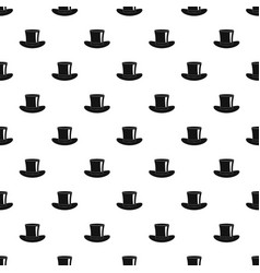 Silk hat pattern vector