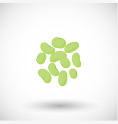 Soy beans flat icon vector