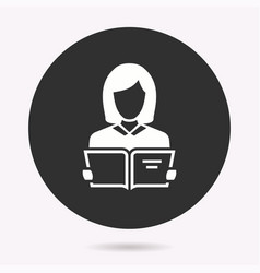Student - icon isolated vector