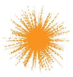 sun icon halftone orange sun circle vector image