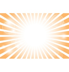 Sunburst with sun flare background vector