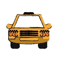 Taxi cab car public transport sketch vector