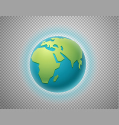 The earth isolated on transparent background vector