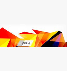 triangle 3d polygonal art style future geometric vector image