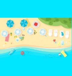 tropical island sea shore vector image