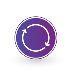 two arrows in circle linear icon for websites vector image