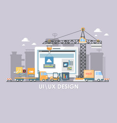 User interface build flat design for vector