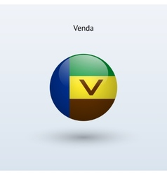 Venda round flag vector