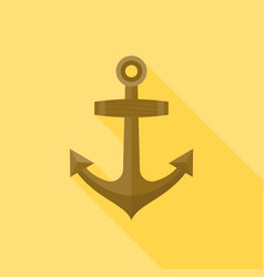 wooden anchor vector image