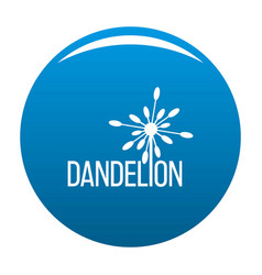 Yellow dandelion logo icon blue vector