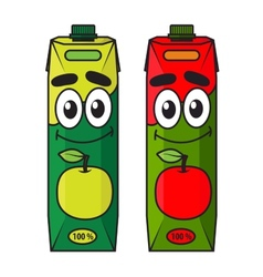 Cartoon apple juice package vector image vector image