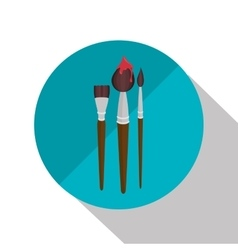 collection brush paint design vector image