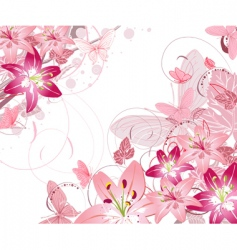 floral pattern lilies vector image