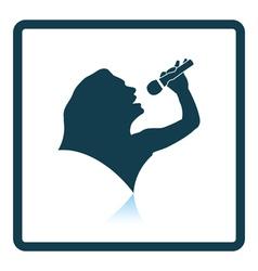 Karaoke womans silhouette icon vector image vector image