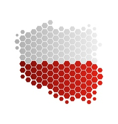 Map and flag of Poland vector image vector image