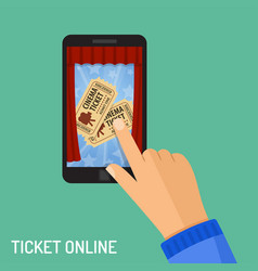 online cinema ticket order concept vector image vector image