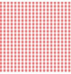 seamless red plaid pattern vector image vector image