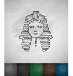 Tutankhamun icon vector image vector image