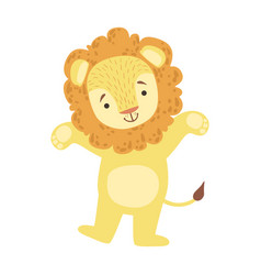 lion cute toy animal with detailed elements part vector image