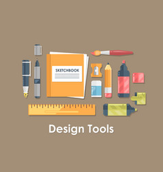 design and drawing tool flat vector image