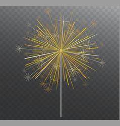 festive bengal light lighting magical fireworks vector image vector image