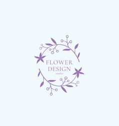 flower design sign symbol or logo template vector image