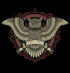 owl crest vector image vector image