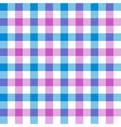 Purple blue check tablecloth seamless pattern vector image