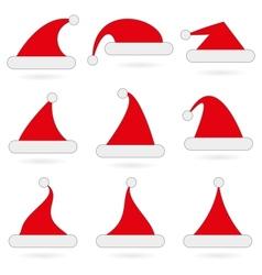 Santas hats vector image vector image