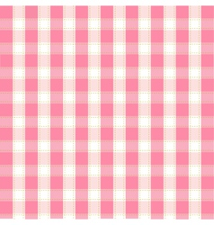 seamless pink plaid pattern vector image vector image