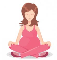 yoga meditation vector image vector image