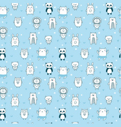 background for cute little boys hand drawn vector image vector image