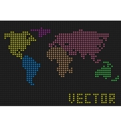 Colored world map vector image