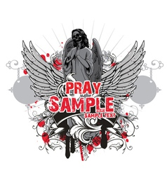 dark gothic t-shirt design vector image vector image