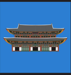 gyeongbokgung south korea country design flat vector image