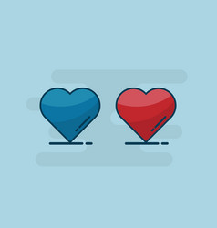 heart shape flat design vector image