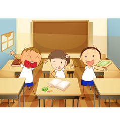kids in a classroom vector image vector image