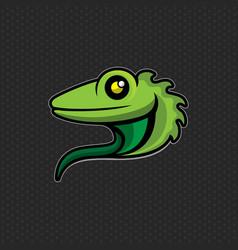 lizard logo design template lizard head icon vector image vector image